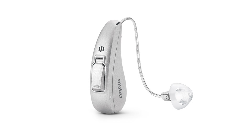 The world's first lithium-ion inductive charging hearing aid.