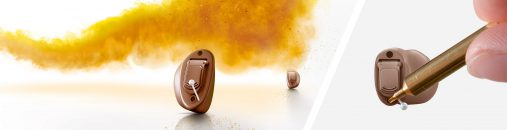 Signia custom hearing aids now include an exchangeable microphone protection, which you