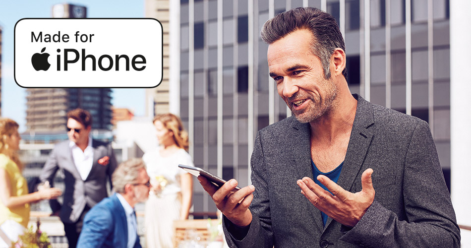 Direkte Übertragung von Telefonaten und Musik von kompatiblen Apple Geräten in Ihre Hörgeräte.