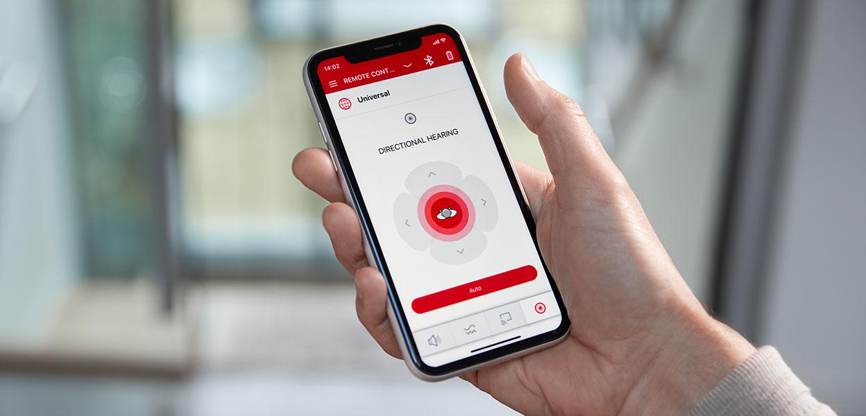 Das Signia Xperience lässt sich per App auch über das Smartphone steuern.