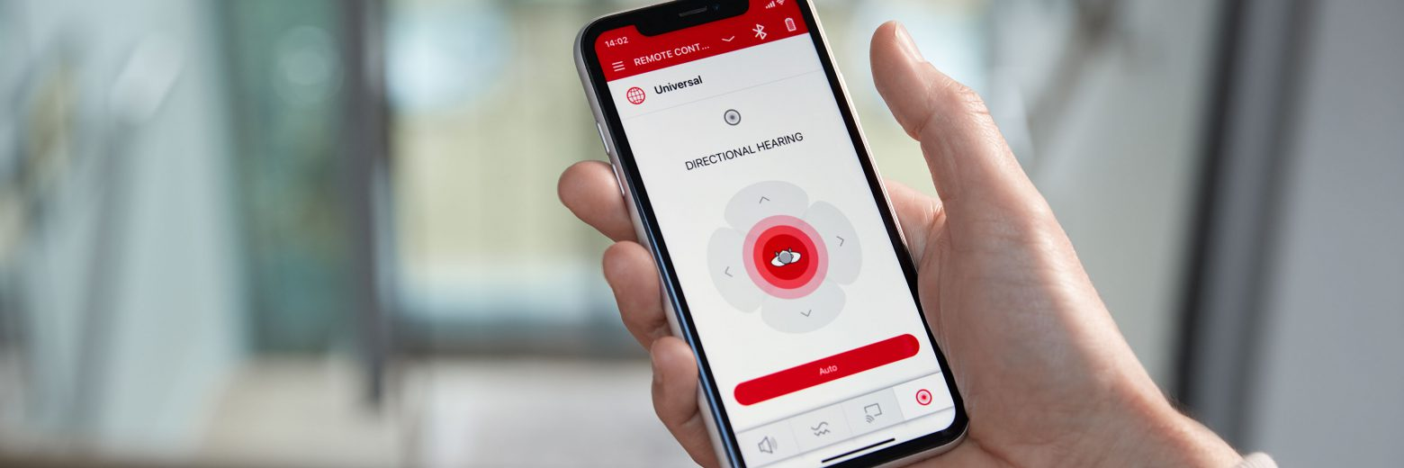 Stay connected with the world and your hearing care professional through the Signia App.